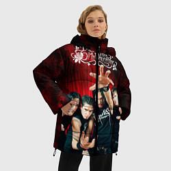 Куртка зимняя женская Bullet for my valentine цвета 3D-черный — фото 2