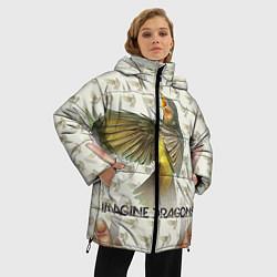 Женская зимняя 3D-куртка с капюшоном с принтом Imagine Dragons: Fly, цвет: 3D-черный, артикул: 10064383406071 — фото 2
