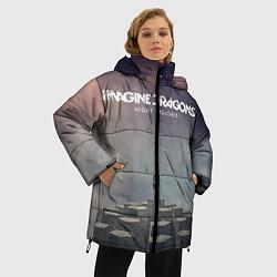 Куртка зимняя женская Imagine Dragons: Night Visions цвета 3D-черный — фото 2