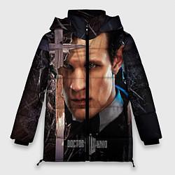 Куртка зимняя женская Доктор кто цвета 3D-черный — фото 1