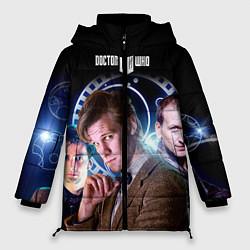 Женская зимняя 3D-куртка с капюшоном с принтом Одиннадцатый Доктор, цвет: 3D-черный, артикул: 10065373106071 — фото 1