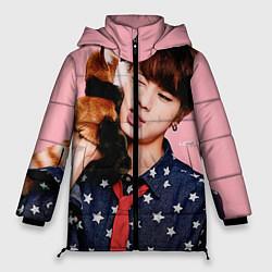 Куртка зимняя женская BTS: Love Me цвета 3D-черный — фото 1