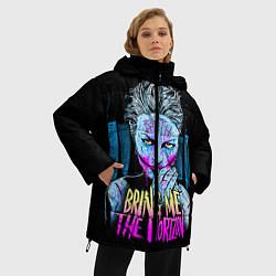 Женская зимняя 3D-куртка с капюшоном с принтом BMTH: Acid Girl, цвет: 3D-черный, артикул: 10073642606071 — фото 2