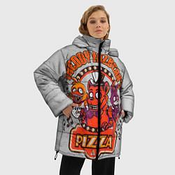 Женская зимняя 3D-куртка с капюшоном с принтом Freddy Pizza, цвет: 3D-черный, артикул: 10073826506071 — фото 2