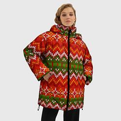 Куртка зимняя женская Зимний узор цвета 3D-черный — фото 2