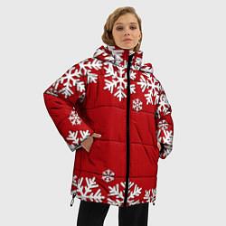 Куртка зимняя женская Снежинки - фото 2