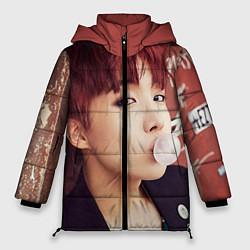Женская зимняя 3D-куртка с капюшоном с принтом J-Hope, цвет: 3D-черный, артикул: 10076886506071 — фото 1