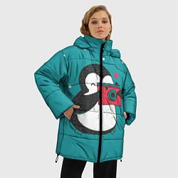 Куртка зимняя женская Пингвин с фотоаппаратом цвета 3D-черный — фото 2
