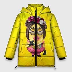 Куртка зимняя женская Дамочка цвета 3D-черный — фото 1