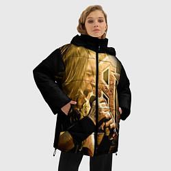 Женская зимняя 3D-куртка с капюшоном с принтом Кипелов: Ария, цвет: 3D-черный, артикул: 10082420306071 — фото 2