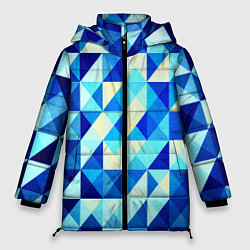 Женская зимняя куртка Синяя геометрия