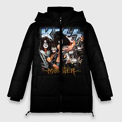 Куртка зимняя женская Kiss Monster цвета 3D-черный — фото 1