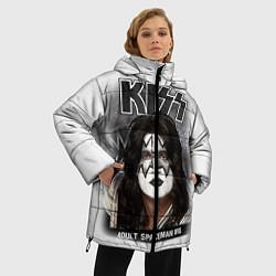 Куртка зимняя женская KISS: Adult spaceman wig цвета 3D-черный — фото 2
