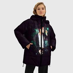 Куртка зимняя женская Michael Jackson цвета 3D-черный — фото 2