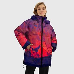 Куртка зимняя женская Абстракция цвета 3D-черный — фото 2
