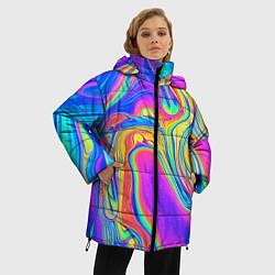 Куртка зимняя женская Цветные разводы - фото 2