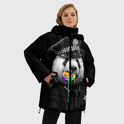 Куртка зимняя женская Панда с карамелью цвета 3D-черный — фото 2