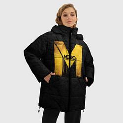Женская зимняя 3D-куртка с капюшоном с принтом Metro: Last Light, цвет: 3D-черный, артикул: 10088873906071 — фото 2