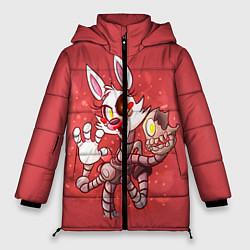 Женская зимняя 3D-куртка с капюшоном с принтом Death Mangle, цвет: 3D-черный, артикул: 10093560506071 — фото 1