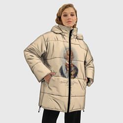 Женская зимняя 3D-куртка с капюшоном с принтом Александр Суворов 1730-1800, цвет: 3D-черный, артикул: 10095769406071 — фото 2