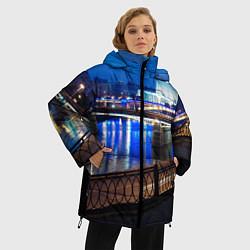 Женская зимняя 3D-куртка с капюшоном с принтом Москва, цвет: 3D-черный, артикул: 10095926006071 — фото 2