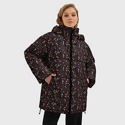 Женская зимняя 3D-куртка с капюшоном с принтом Унесённые призраками, цвет: 3D-черный, артикул: 10096214906071 — фото 2