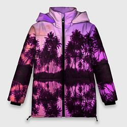 Женская зимняя 3D-куртка с капюшоном с принтом Hawaii dream, цвет: 3D-черный, артикул: 10096437206071 — фото 1