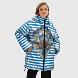 Женская зимняя 3D-куртка с капюшоном с принтом ВДВ, цвет: 3D-черный, артикул: 10099218206071 — фото 2