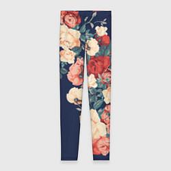 Леггинсы женские Fashion flowers цвета 3D-принт — фото 1