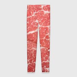 Леггинсы женские Кусок мяса цвета 3D — фото 1