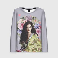 Лонгслив женский Lorde Floral цвета 3D-принт — фото 1