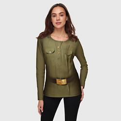 Лонгслив женский Униформа солдата цвета 3D-принт — фото 2