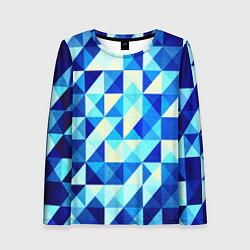 Женский лонгслив Синяя геометрия