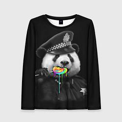 Лонгслив женский Панда с карамелью цвета 3D — фото 1
