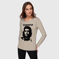 Лонгслив хлопковый женский Che Guevara цвета миндальный — фото 2