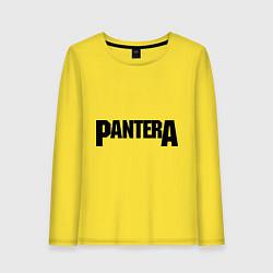 Лонгслив хлопковый женский Pantera цвета желтый — фото 1
