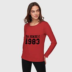 Лонгслив хлопковый женский На Земле с 1983 цвета красный — фото 2