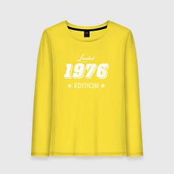 Лонгслив хлопковый женский Limited Edition 1976 цвета желтый — фото 1