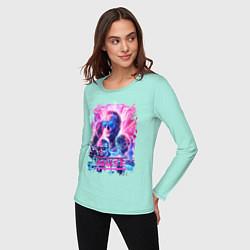Лонгслив хлопковый женский Muse цвета мятный — фото 2