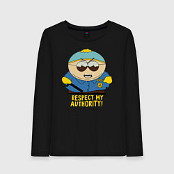 Женский хлопковый лонгслив с принтом South Park, Эрик Картман, цвет: черный, артикул: 10214437100016 — фото 1