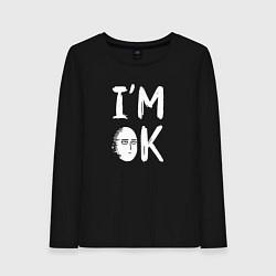 Лонгслив хлопковый женский IM OK цвета черный — фото 1