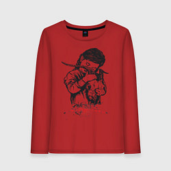 Лонгслив хлопковый женский Chelsea Grin: Demon Girl цвета красный — фото 1