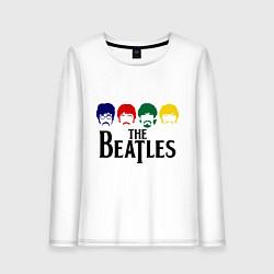 Лонгслив хлопковый женский The Beatles Heads цвета белый — фото 1