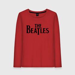 Лонгслив хлопковый женский The Beatles цвета красный — фото 1