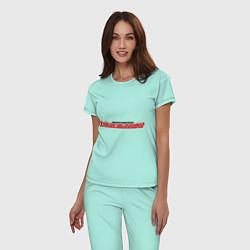 Пижама хлопковая женская NFS Undeground цвета мятный — фото 2