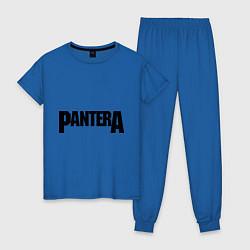 Пижама хлопковая женская Pantera цвета синий — фото 1