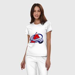 Пижама хлопковая женская Colorado Avelanche цвета белый — фото 2
