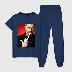 Пижама хлопковая женская House Hates You цвета тёмно-синий — фото 1
