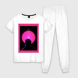 Пижама хлопковая женская Blade Runner 2049 цвета белый — фото 1