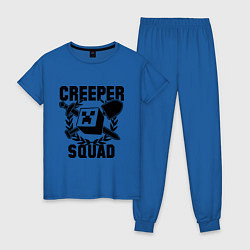 Пижама хлопковая женская Creeper Squad цвета синий — фото 1
